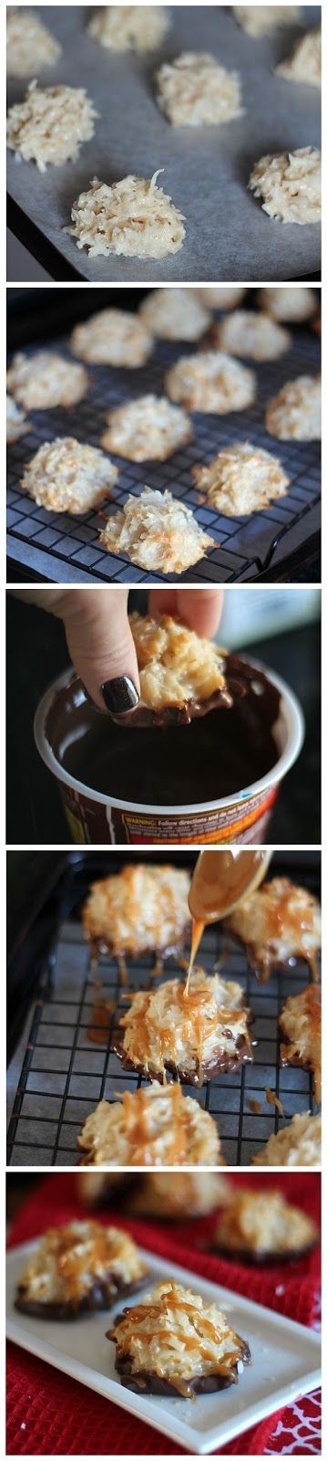 Salted Caramel Coconut Macaroons Ingredients: 1 (14 oz) can Sweetened Condensed Milk 3/4 cup caramel sauce 1 cup flour 2 (14 oz) bag shredded sweetened coconut flakes 1 1/2- 2 tsp tsp sea salt, div...