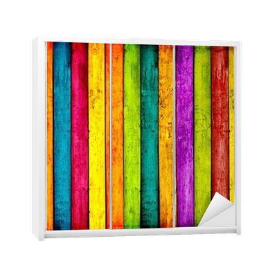 Naklejka na Szafę Kolorowych desek tle 365 dni na zwrot ✓ Miliony wzorów ✓ 100% Eco-Friendly ✓ Profesjonalna obsługa i doradztwo ✓ Skonfiguruj online!