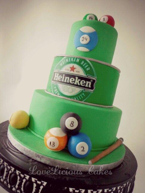 Heineken cake www.loveliciouscakes.nl
