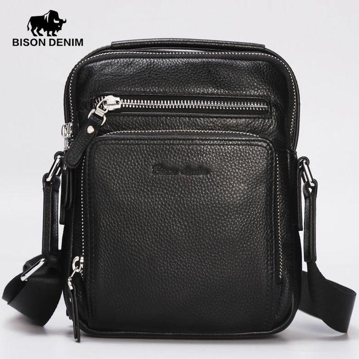 Bison Denim Mens Leather Laptop Handbag Briefcase Shoulder Messenger handBag bag #BISONDENIM #MessengerShoulderBag
