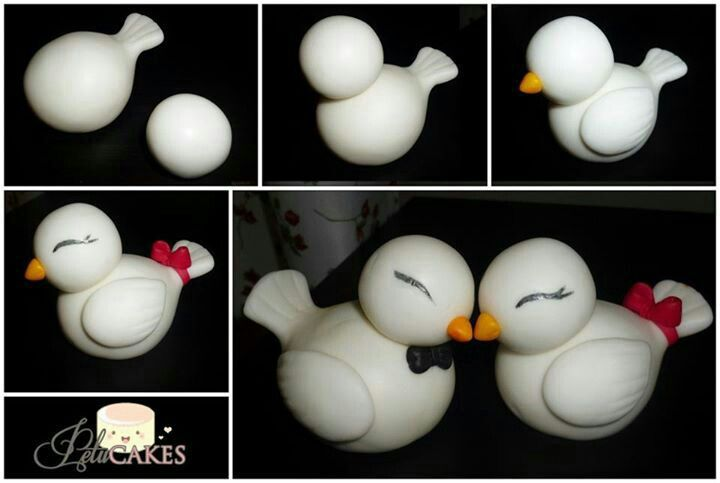 fondant tutorial cute ducklings #duck