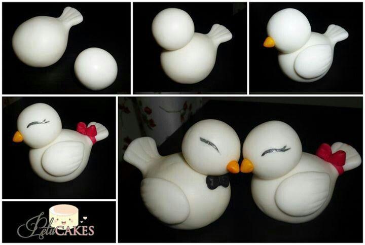fondant tutorial cute ducklings #duck