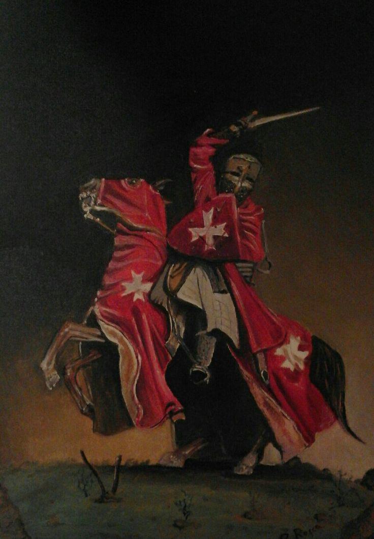 Olio su tela 30x40. Il Cavaliere dell' Ordine di Malta