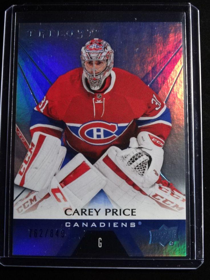 2016-17 Upper Deck Trilogy Blue #20 Carey Price Canadiens 762/849 Hockey Card #MontrealCanadiens