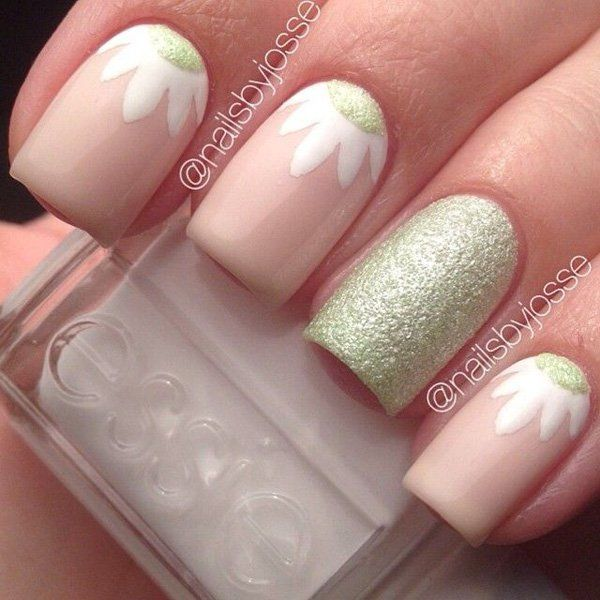 Flower nail – 50 Flower Nail Art Designs ♥ !