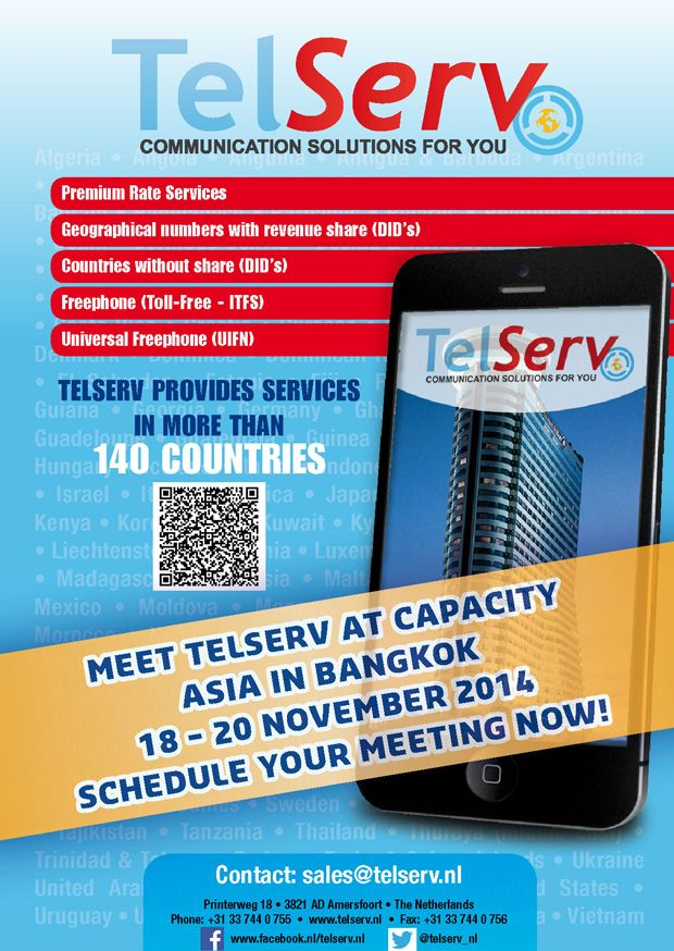Make your appointment with TelServ for Capacity Asia now! #telecom #event #Asia #Bangkok
