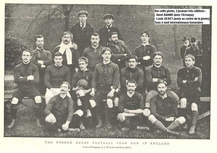 French Rugby Football Team Stade Francais - 1898