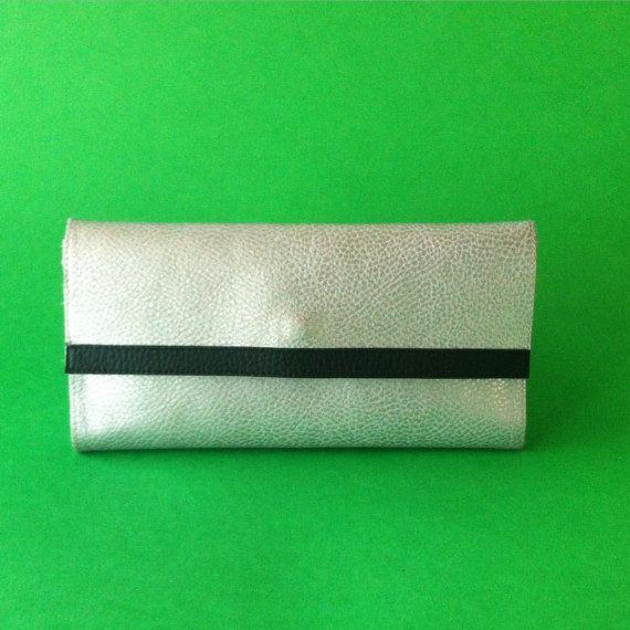silver Vegan Wallet women handmade in Italy / by PittiVintage