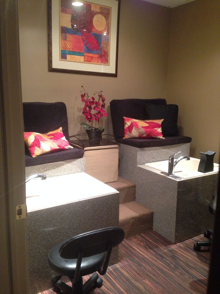 Finished our pedicure room