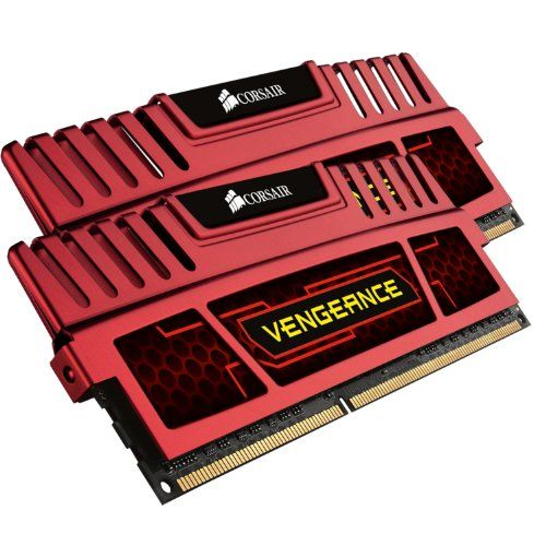 Corsair Vengeance  Red 8GB (2x4GB)  DDR3 2133 MHz (PC3 17000) Desktop Memory (CMZ8GX3M2A2133C11R). Limited lifetime warranty. Vengeance red heat spreader for styling and performance. Pin Out: 240 Pin. Vengeance memory modules provide users with outstanding memory performance and stability. Timing: 11-11-11-27. Speed: 2133MHz. Voltage: 1.5V. Each module is built using carefully selected DRAM to allow excellent overclocking performance, and has a limited lifetime warranty.