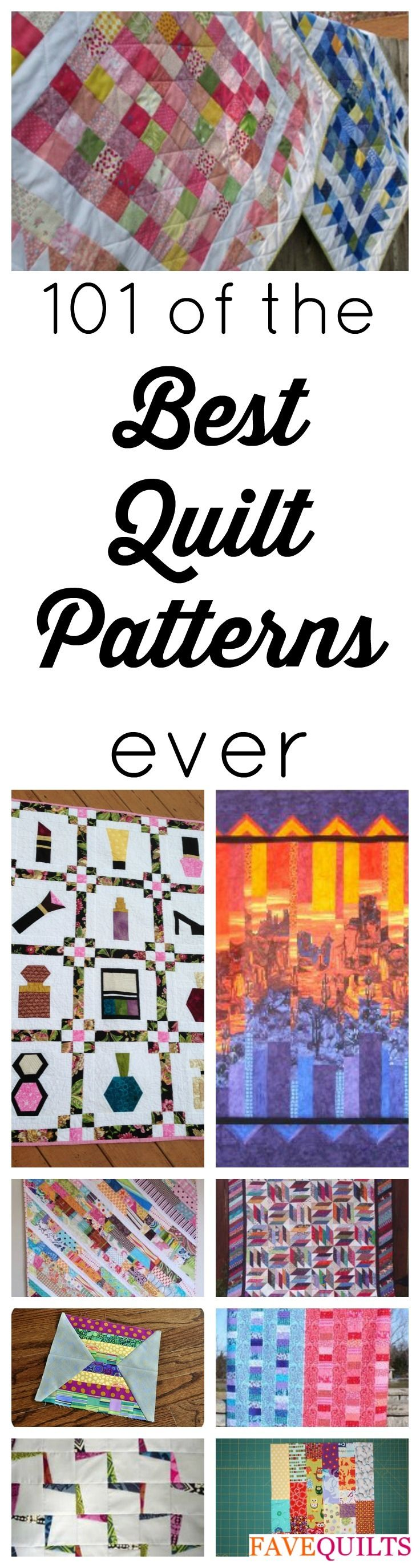 101 Best Quilt Patterns for Free: Quilt Block Patterns, Quilt Patterns for Baby, and More | These free quilt patterns are must-haves for quilting fans!