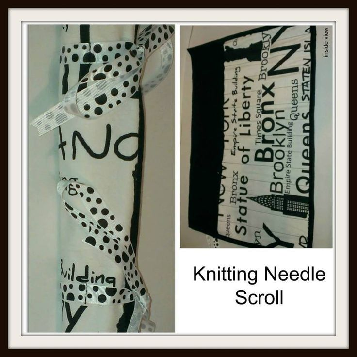 Handmade by Trinity Rose Creations Knitting Needle Scroll