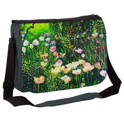 Spring Tulip Flowers  Messenger Bag by simon-knott-fine-artist at zippi.co.uk