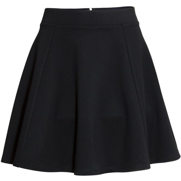 H&M Circular skirt ($19) ❤ liked on Polyvore featuring skirts, mini skirts, bottoms, faldas, saias, black, jersey skirt, circle skirt, elastic waist skirt and elastic waist circle skirt