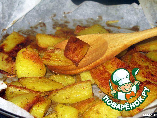 Картофельные ломтики с горчицей ингредиенты