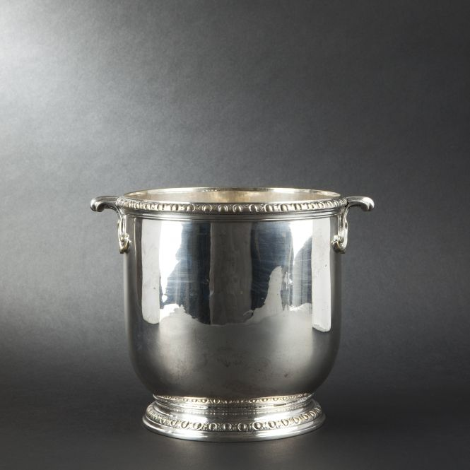 Ice bucket louis xv period re silvered by christofle s i l v e r pinterest - Timbale argent christofle ...