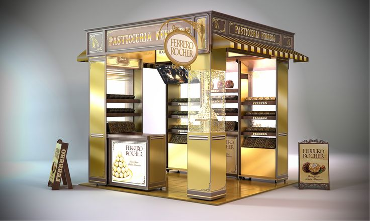 Ferrero Rocher Retail Pop up shop. Point of sale. POP. POS. Designed by Lance Eggersglusz.