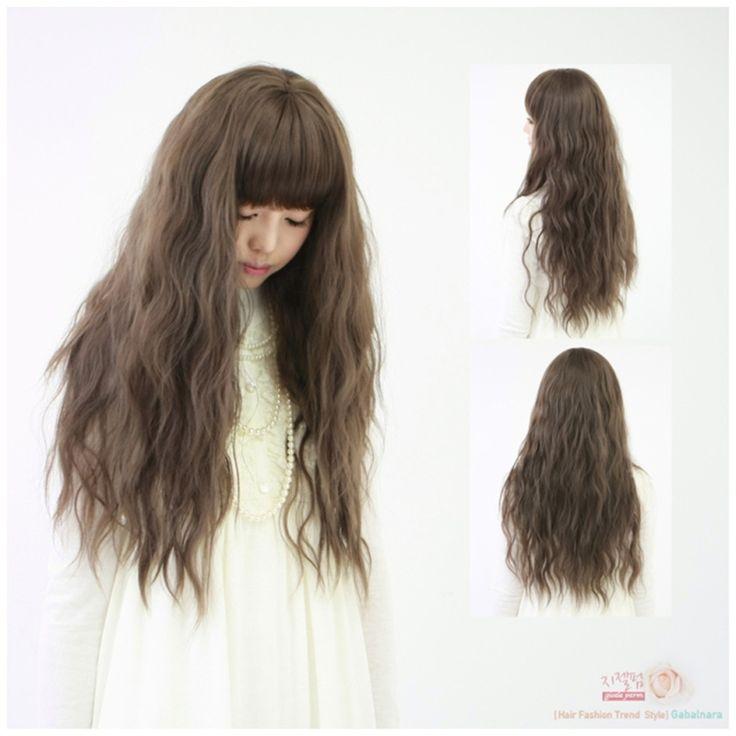 女性毛原宿トウモロコシかつら耐熱70センチパーマふわふわの長いかつらコスプレプリンセス波状カーリーウィッグ安い合成かつら