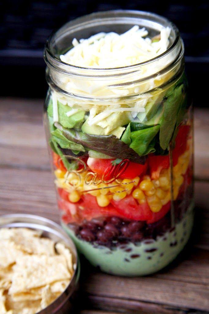 Cinq Fourchettes etc.: 7 salades en pot qui donnent le goût de manger de la salade!