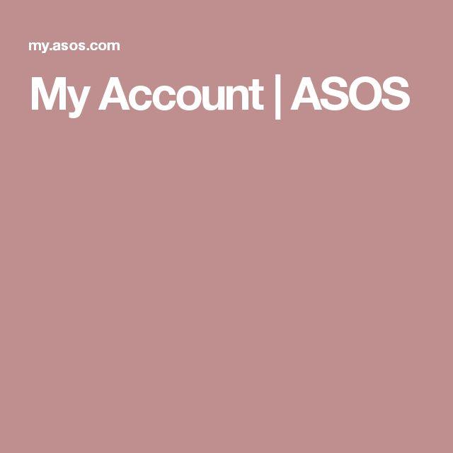 My Account | ASOS
