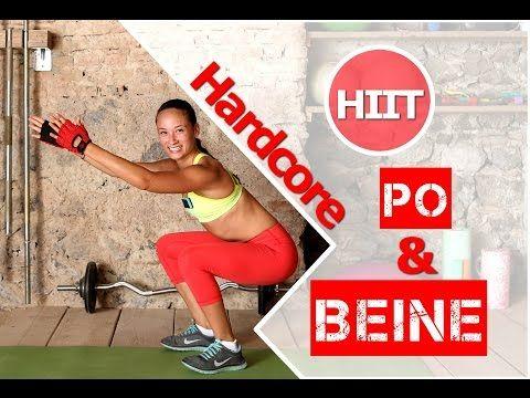 12 Min Oberschenkel / Po Workout - Schlanke Beine trainieren - Übungen für den Hintern / Knackpo - YouTube