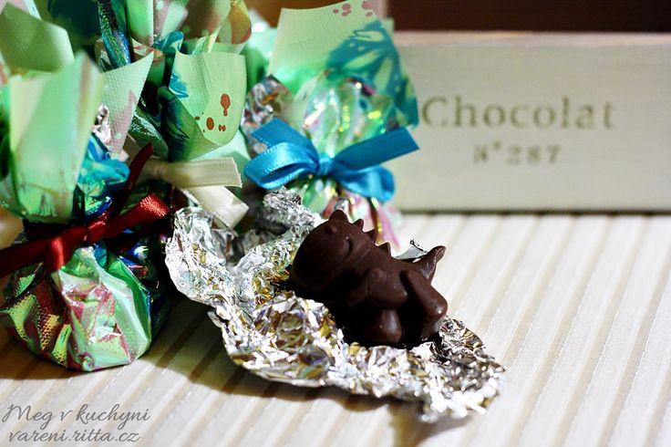 Dinosauřík z ledové čokolády