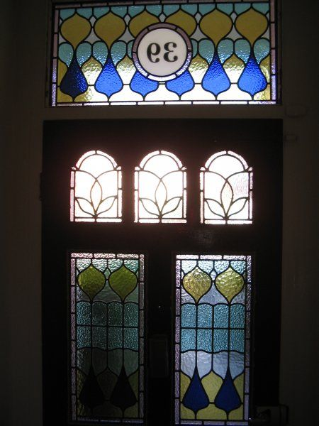 Edwardian stained glass repro