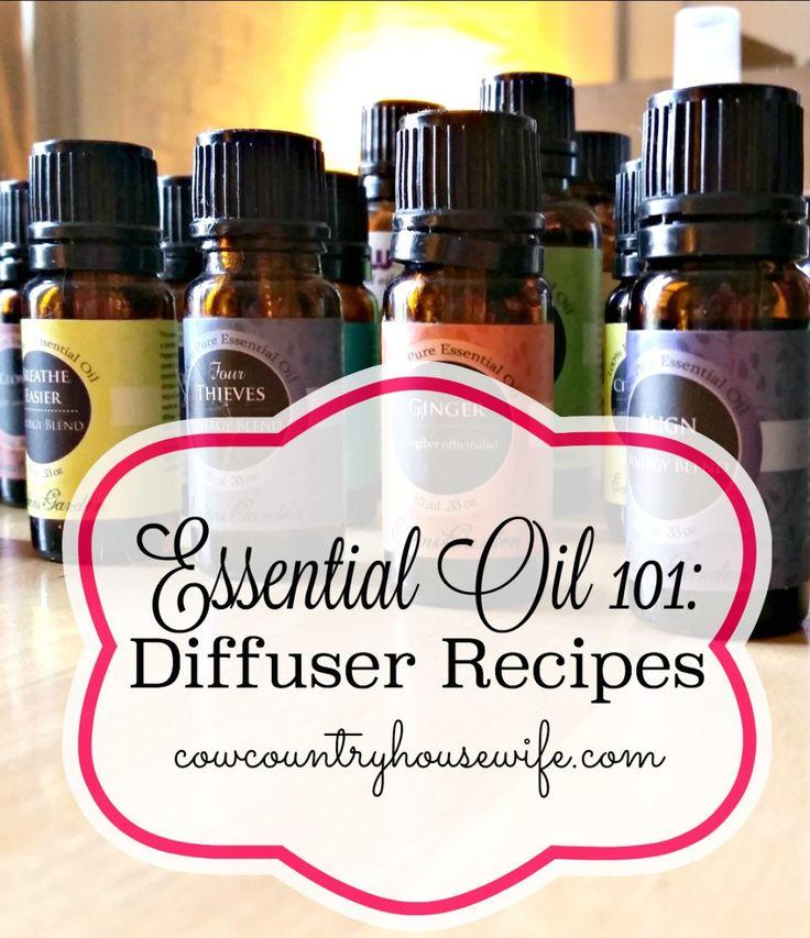 #EssentialOil 101: #Diffuser Recipes