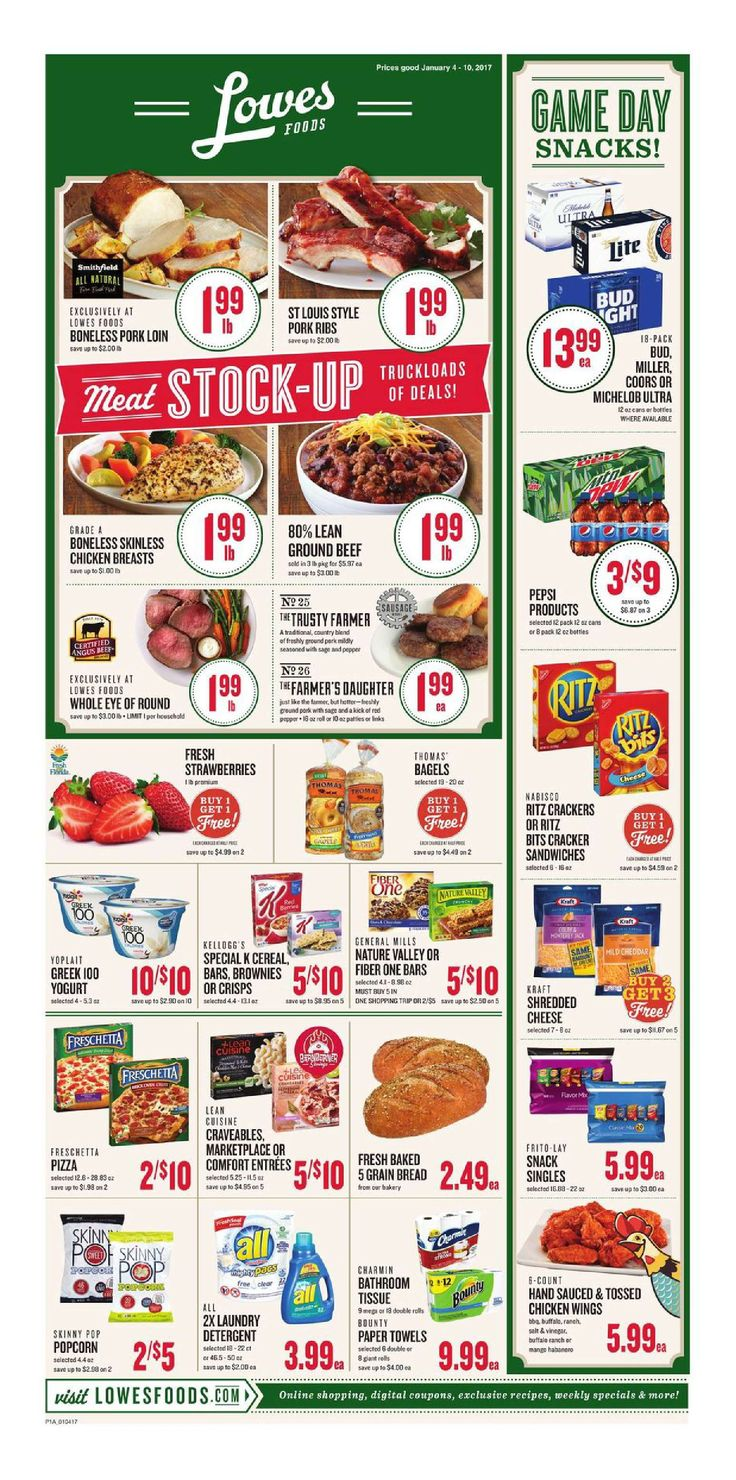 Lowes Weekly Ad January 4 - 10, 2017 - http://www.olcatalog.com/grocery/lowes-weekly-ad-circular.html