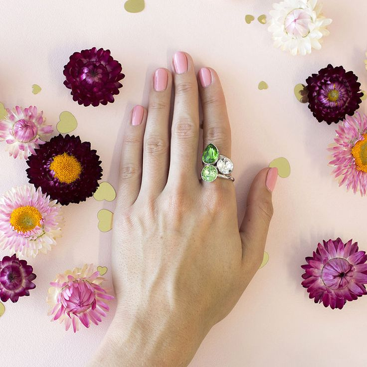 Summer 2018 Stacker Ring Set #bling #MarisaKateDesigns #Swarovski #crystal #jewel #sterlingsilver