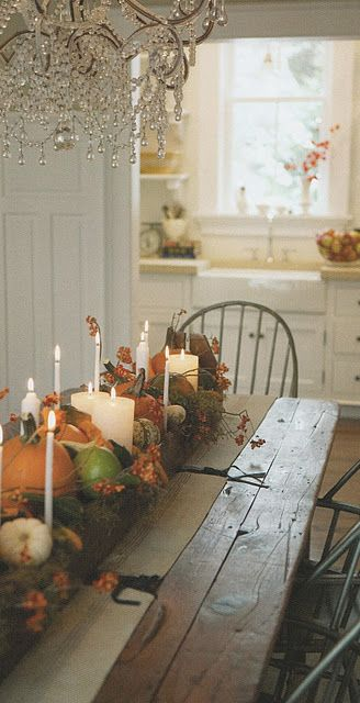 love this!: Tables Sets, Fall Decor, Harvest Tables, Rustic Tables, Tables Centerpieces, Fall Tables, Rustic Fall, Farms Tables, Thanksgiving Tables