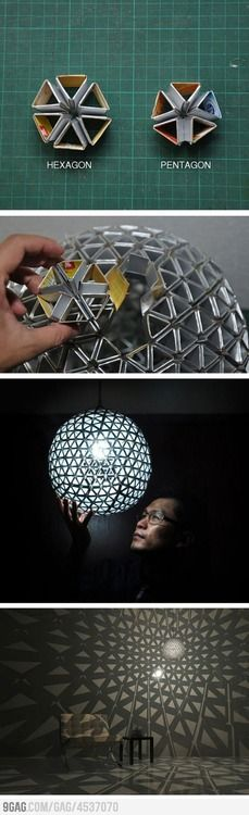 DIY cardboard lamp- It's all about the shadows!