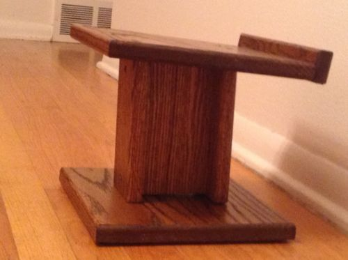 speakers and stands. custom built solid oak heavy duty speaker stands wood stain hand made speakers and