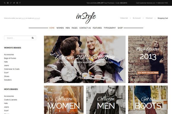 Check out inStyle - eCommerce WordPress theme by GavickPro on Creative Market
