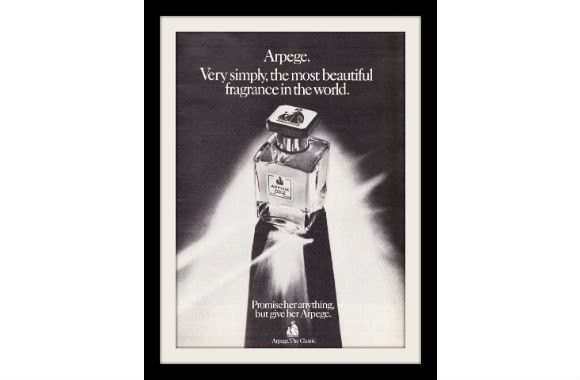"1974 Lanvin Arpege Perfume Ad ""Glass Bottle"" Vintage Advertisement Print"