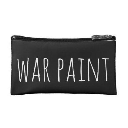 war paint custom black makeup toiletry bag - shower gifts diy customize creative