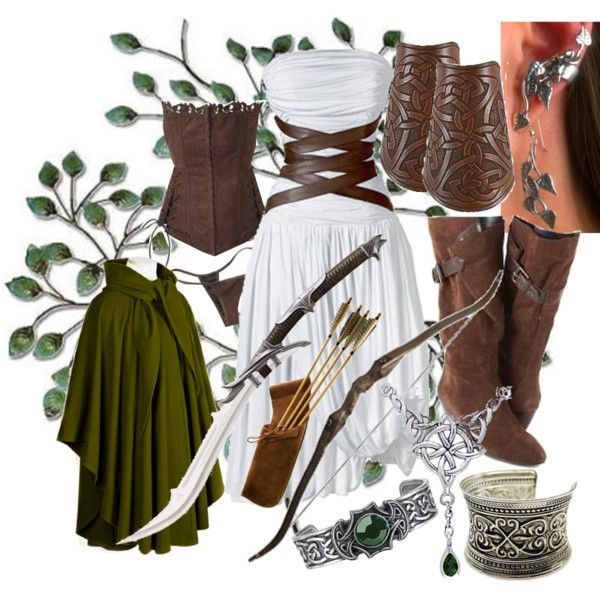 Elven Huntress by dont-make-me-ill on Polyvore featuring Nine West, Fantasy Jewelry Box, DC Shoes, Carolina Glamour Collection, CÉLINE, MAC Cosmetics and INC International Concepts
