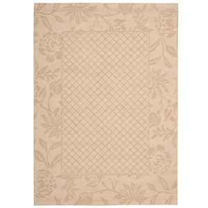 "Andrea Stark Trellis Border Vine Collection 100% Wool Rug - Gold/7'9"" x 9'9"" at HSN.com."