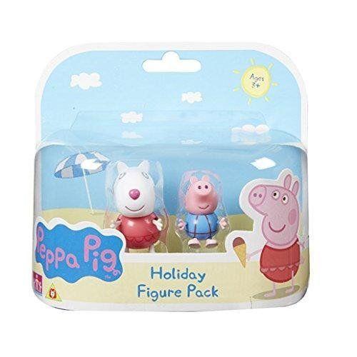 Peppa Pig – Blister 2 Figurines en Vacances – Suzie et George en Maillots de Bain: Retrouve Peppa et ses amis pour de nouvelles aventures…