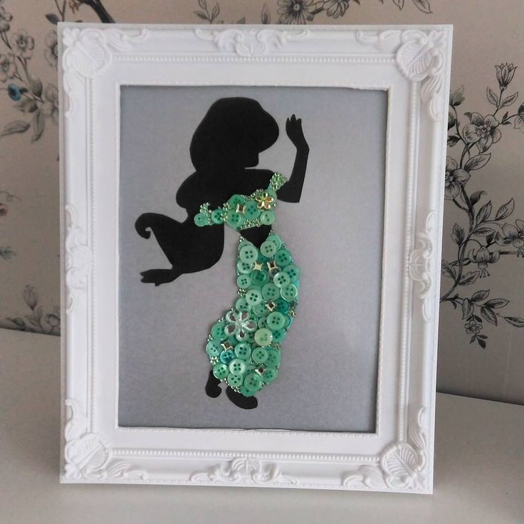 Disney inspired Jasmine/Aladdin button art #clairescraftboutique