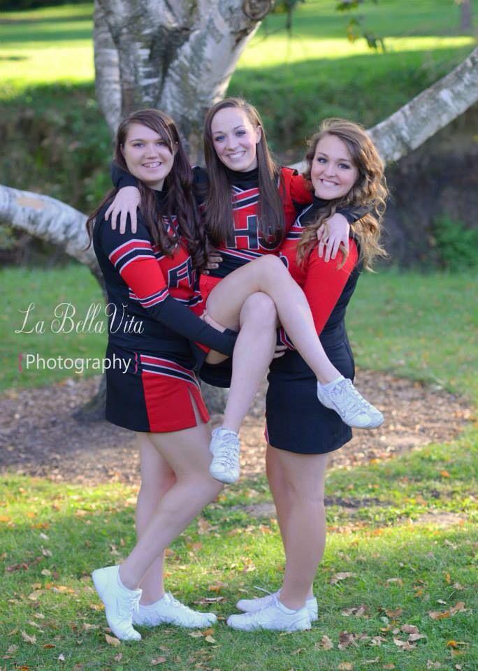 Senior cheerleading best friends! :)