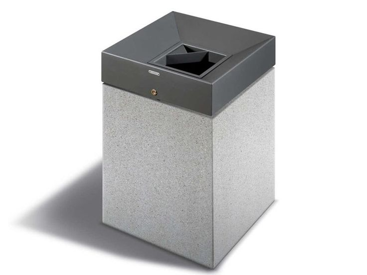 Steel waste bin with lid QUARZO by Metalco   design Alfredo Tasca