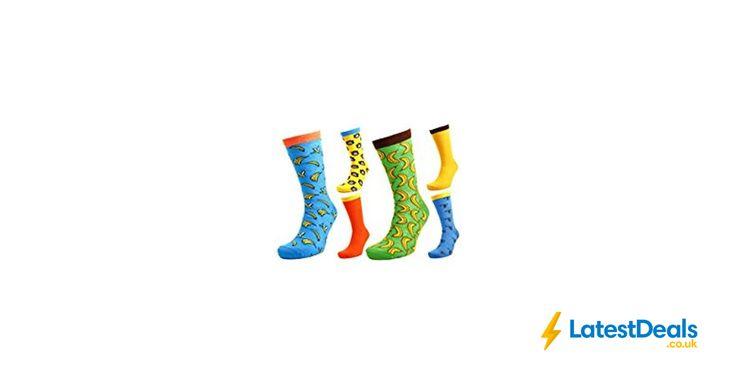 Tom Franks 6 Pairs of Mens Monkey & Bananas Character Socks 7-11, £6.99 at Amazon UK