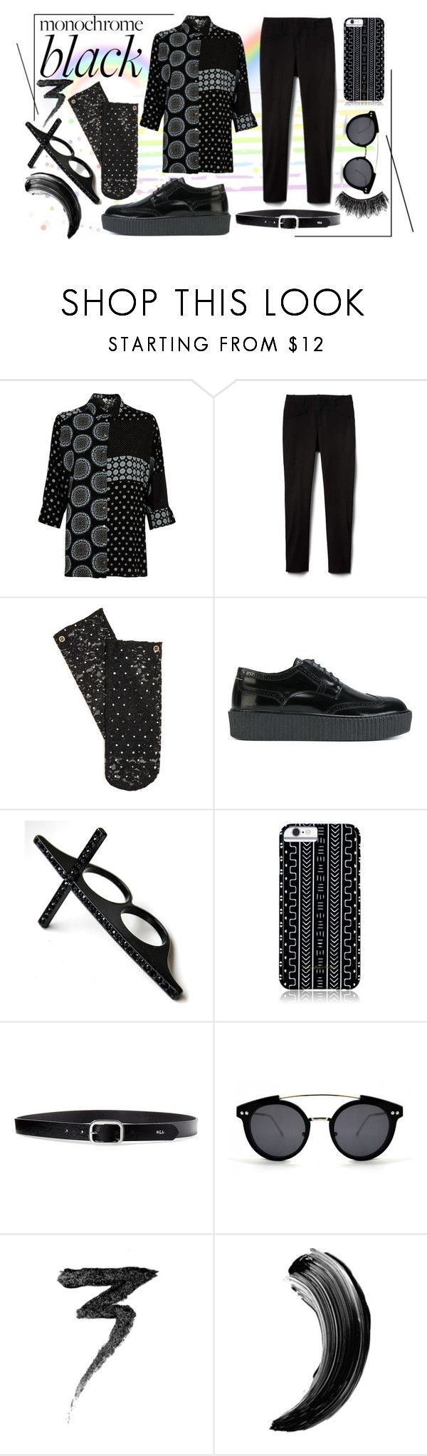 """Androgynous and Fabulous"" by masquerademan on Polyvore featuring River Island, Stance, MM6 Maison Margiela, Savannah Hayes, Lauren Ralph Lauren, Spitfire, Manic Panic NYC and Illamasqua"