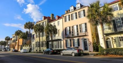 10 Budget Friendly Retirement Spots - Historic houses in Charleston, SC © Daniela Duncan/Moment/Getty Images