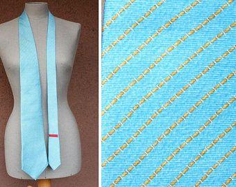 Bulgari Light Blue Silk Tie - Bvlgari Luxury Silk Tie