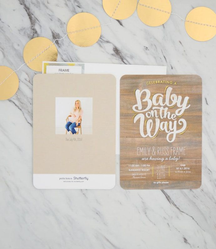 We love these gender-neutral baby shower invitations that Emily picked out for the big day.