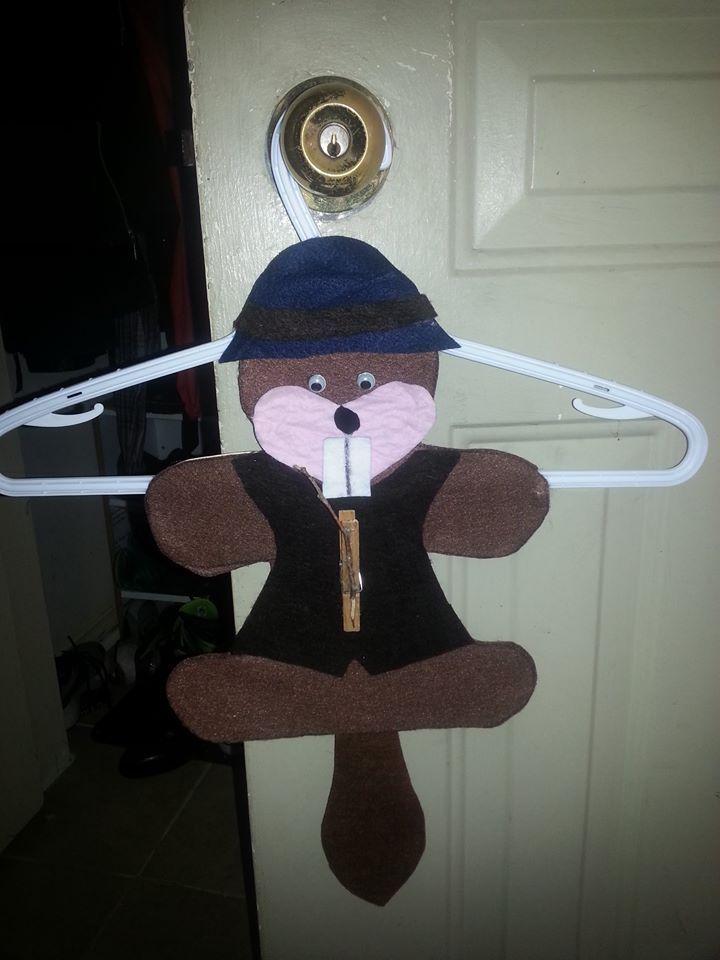 Beaver uniform hanger