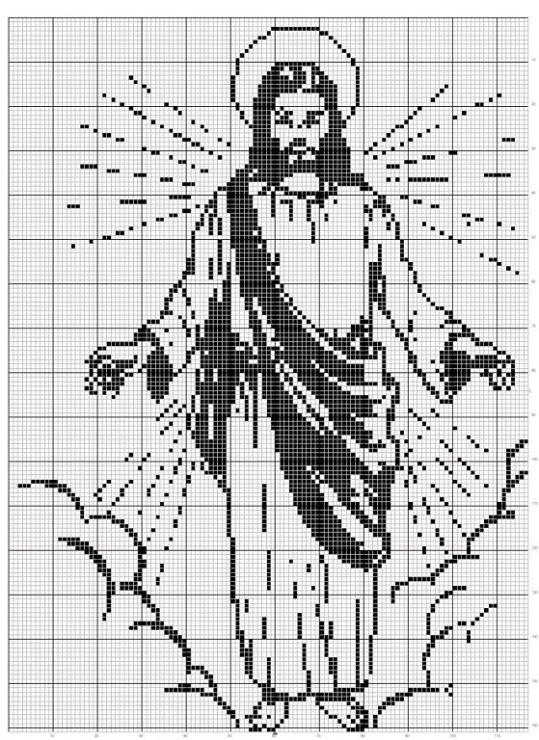 Cross stitch - Jesus - Christian