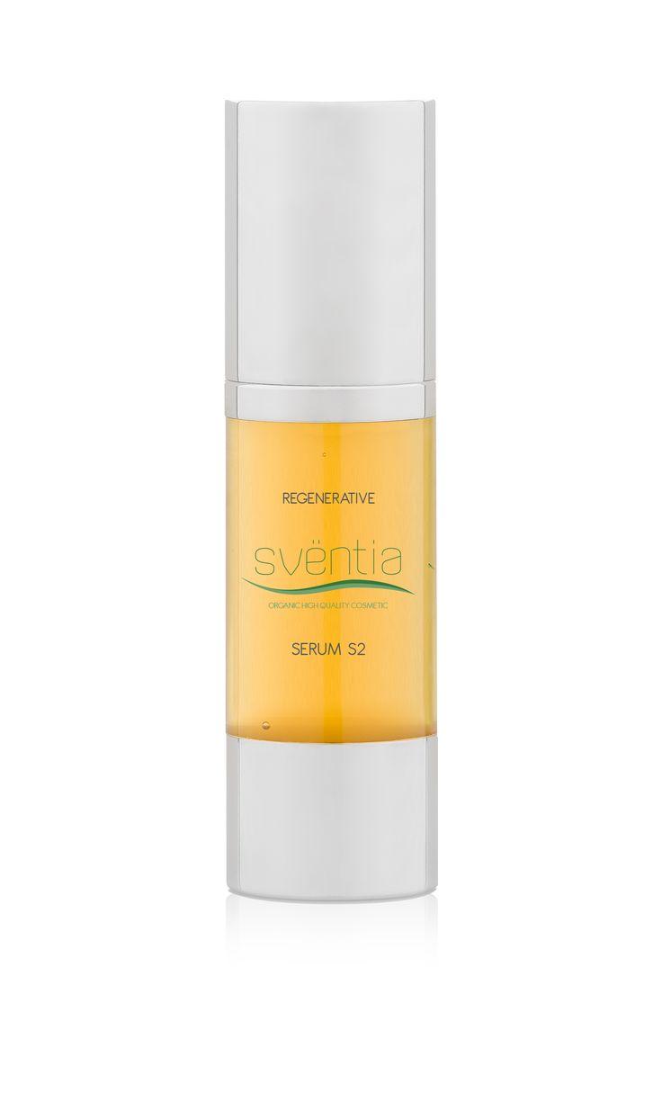 Sventia Regenerating nourishing facial serum S2 30ml/denné regeneračno-hydratačné ošetrenie, prírodná a organická kozmetika - certifikát BDIH